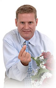 Man offering engagement ring